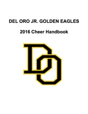 View the Del Oro Jr. Golden Eagles Cheer Handbook